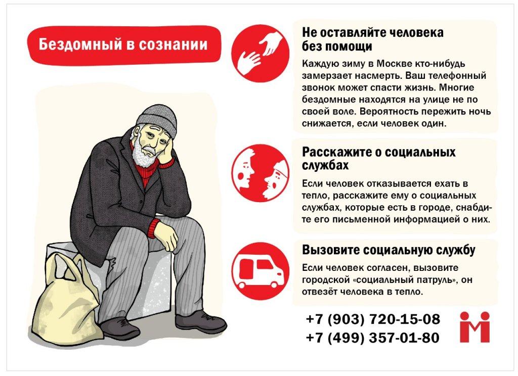 Как помочь замерзающему бездомному в Москве: инструкция